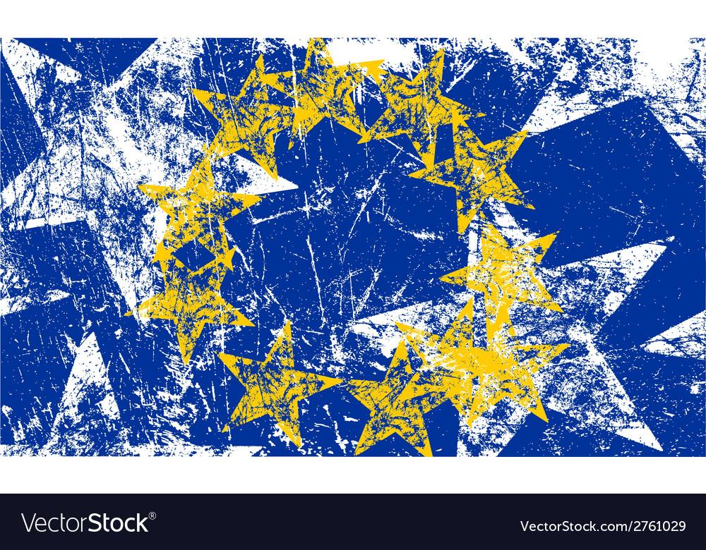 Grunge european flag artwork vector   Price: 1 Credit (USD $1)