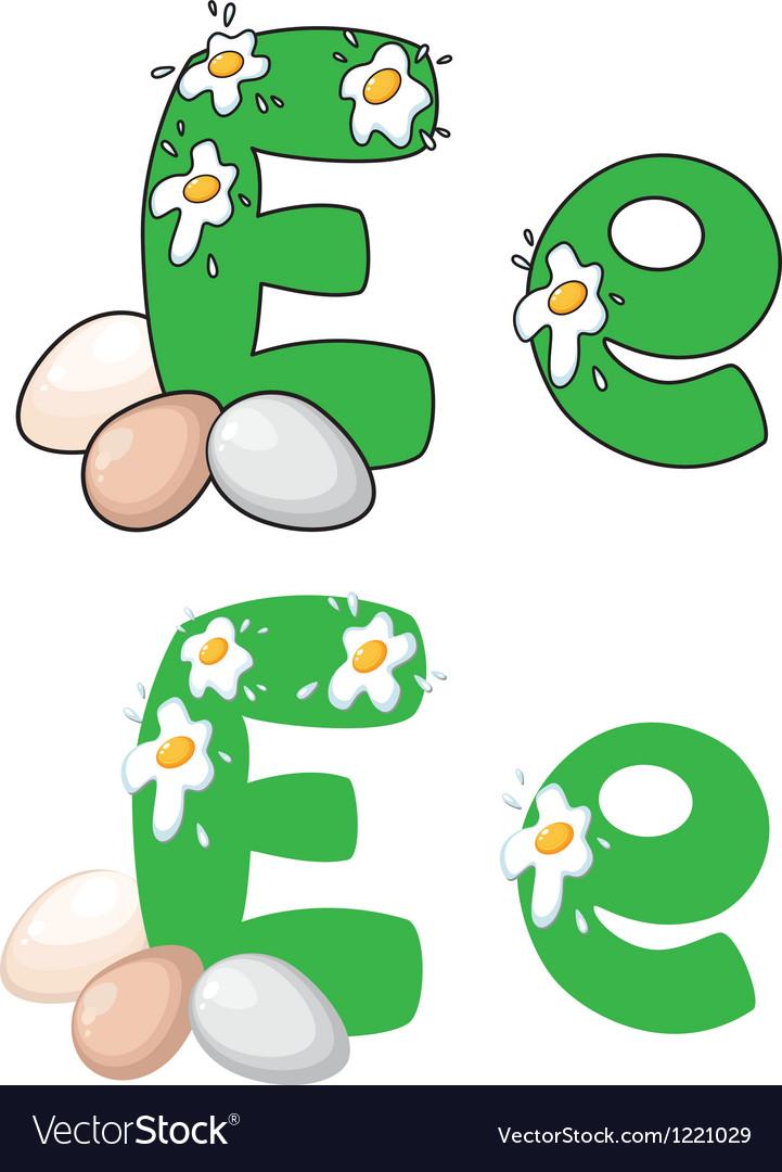 Letter e egg vector | Price: 1 Credit (USD $1)