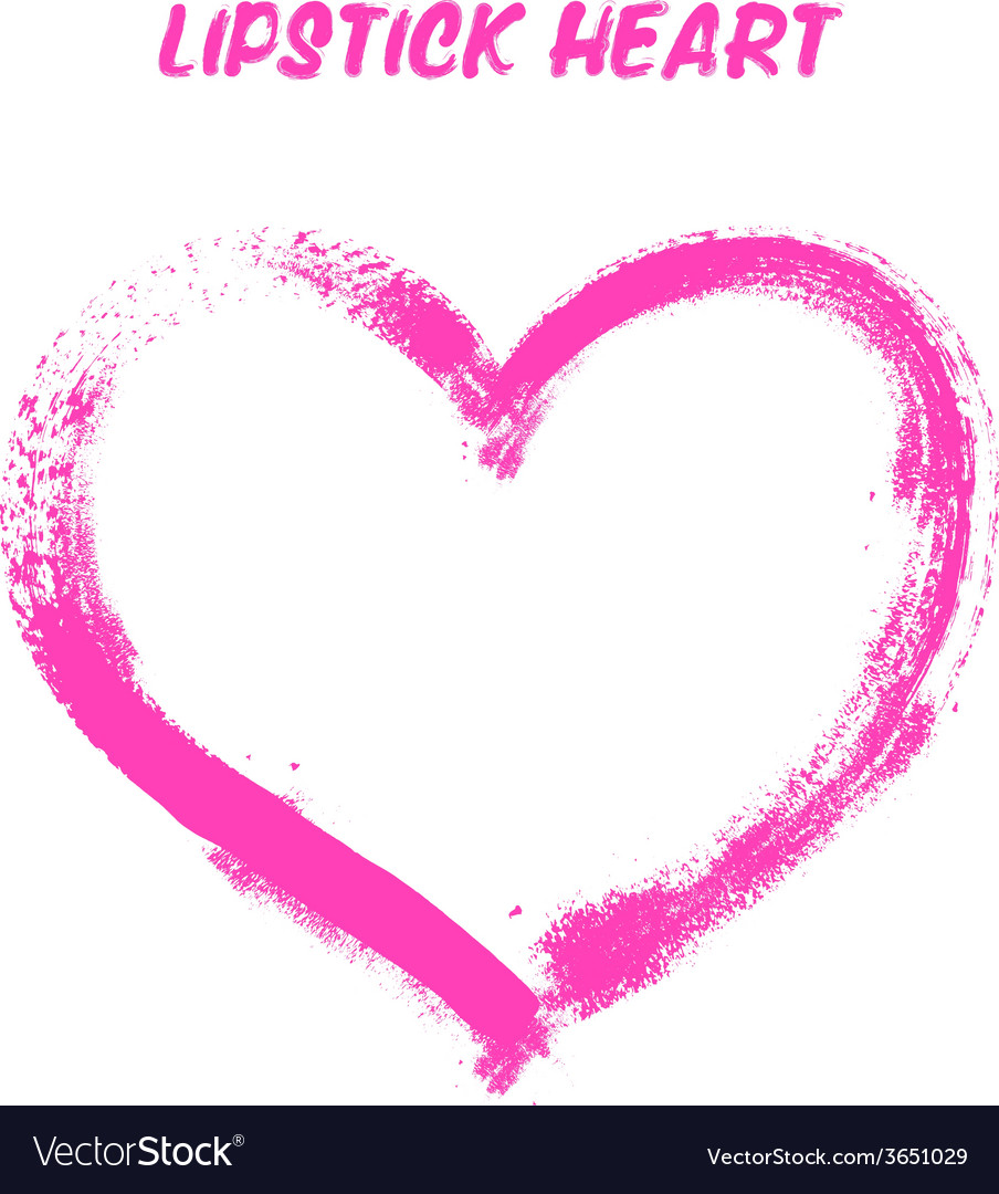 Lipstick painted heart vector   Price: 1 Credit (USD $1)