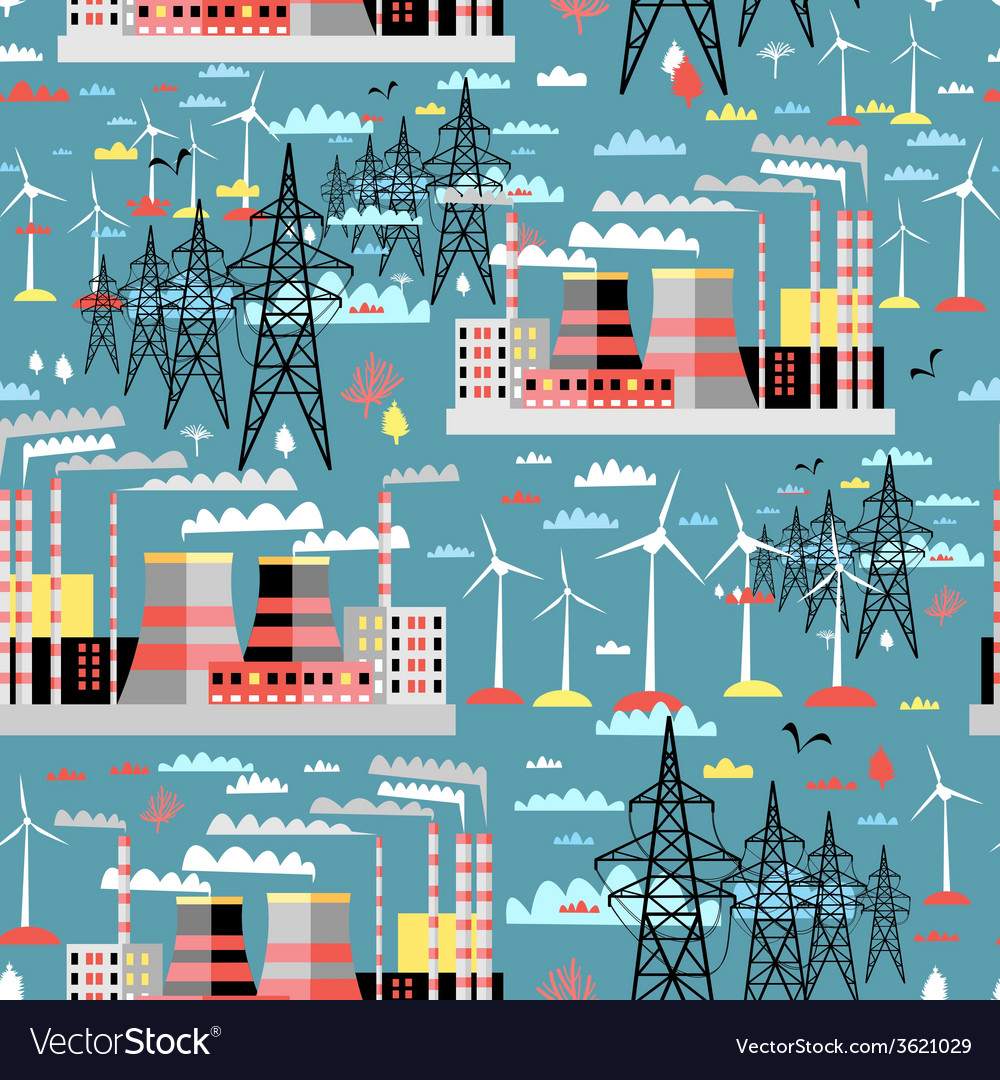 Pattern of thermal and wind power vector | Price: 1 Credit (USD $1)