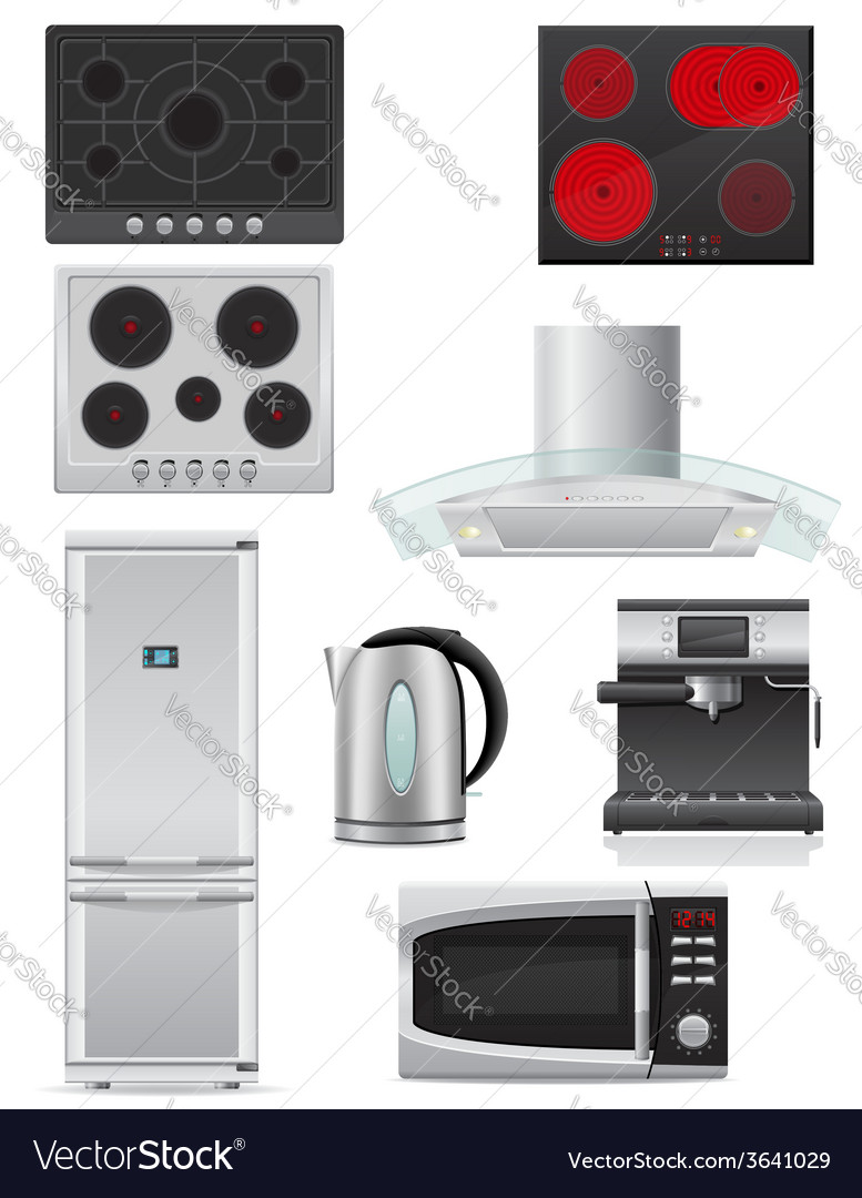 Set of kitchen appliances 02 vector | Price: 5 Credit (USD $5)