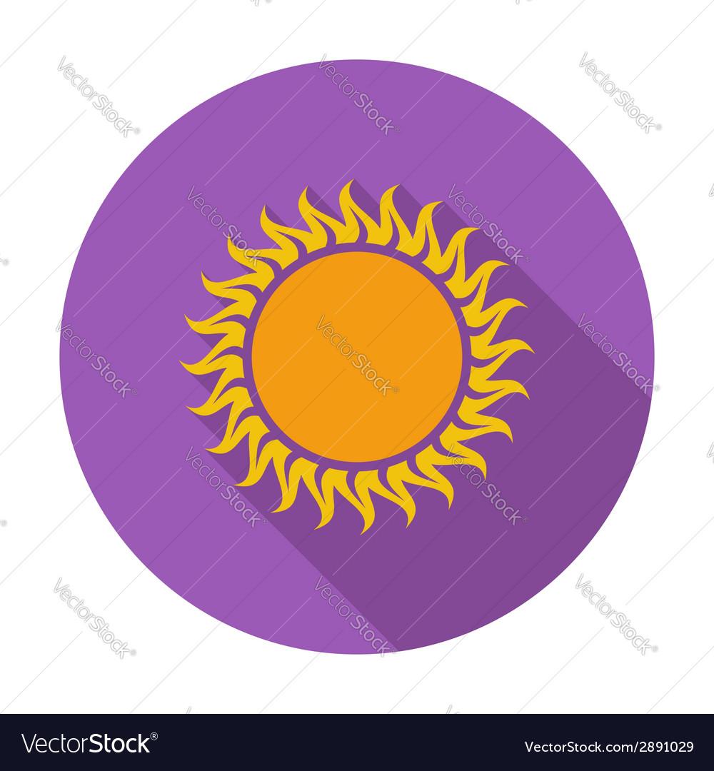 Sun single icon vector | Price: 1 Credit (USD $1)