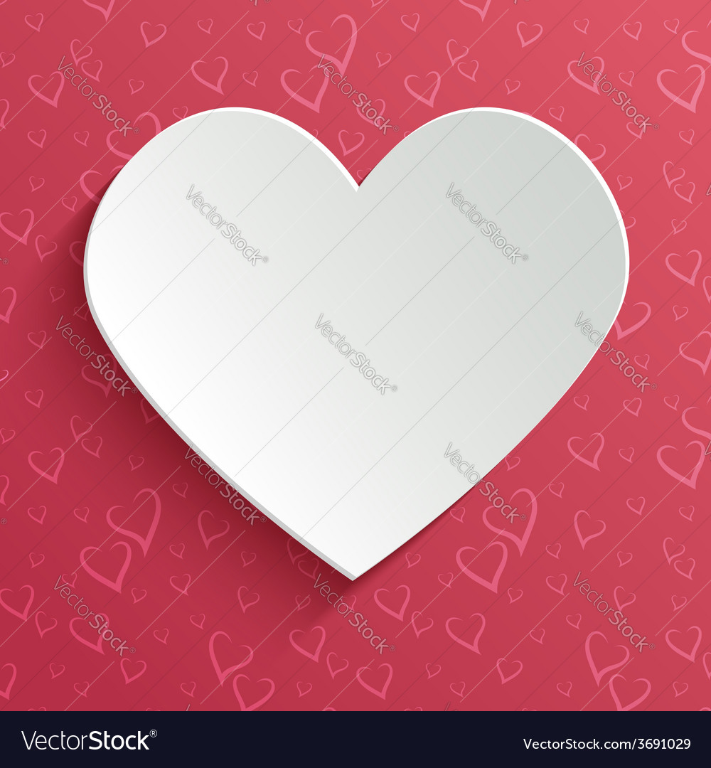 Valentines day greeting or invitation card with vector | Price: 1 Credit (USD $1)