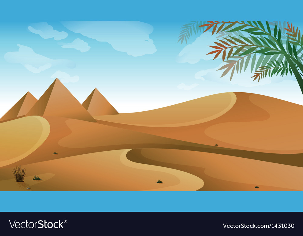 A landscape at the desert vector | Price: 1 Credit (USD $1)
