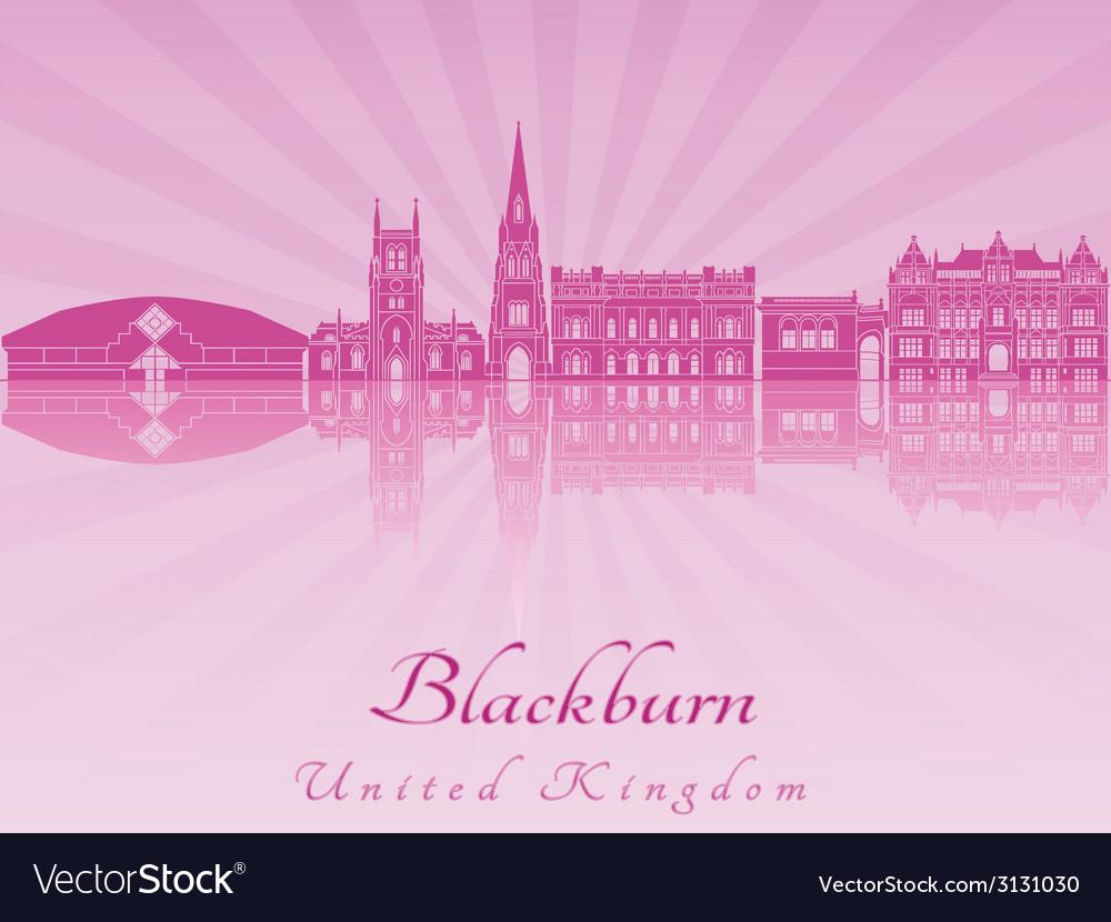 Blackburn skyline in purple radiant orchid vector | Price: 1 Credit (USD $1)