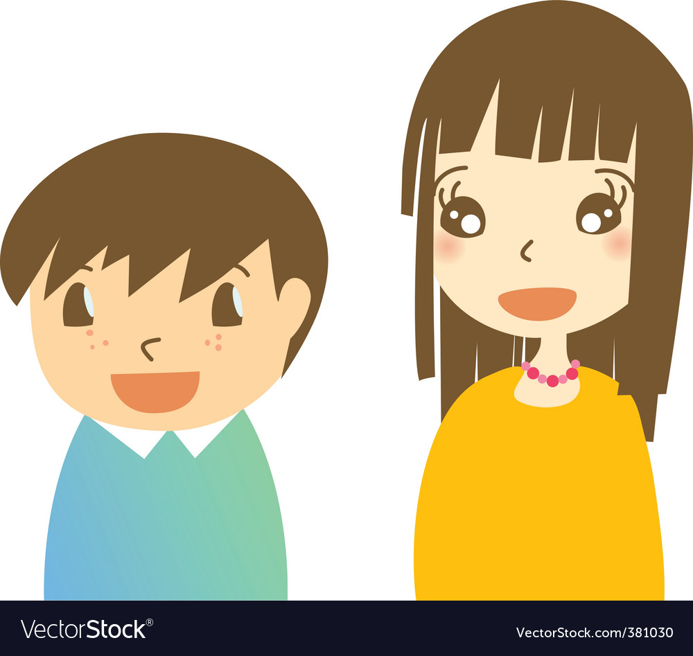 Brother and sister vector | Price: 1 Credit (USD $1)