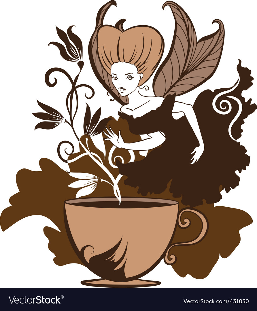 Coffee fairy vector | Price: 1 Credit (USD $1)