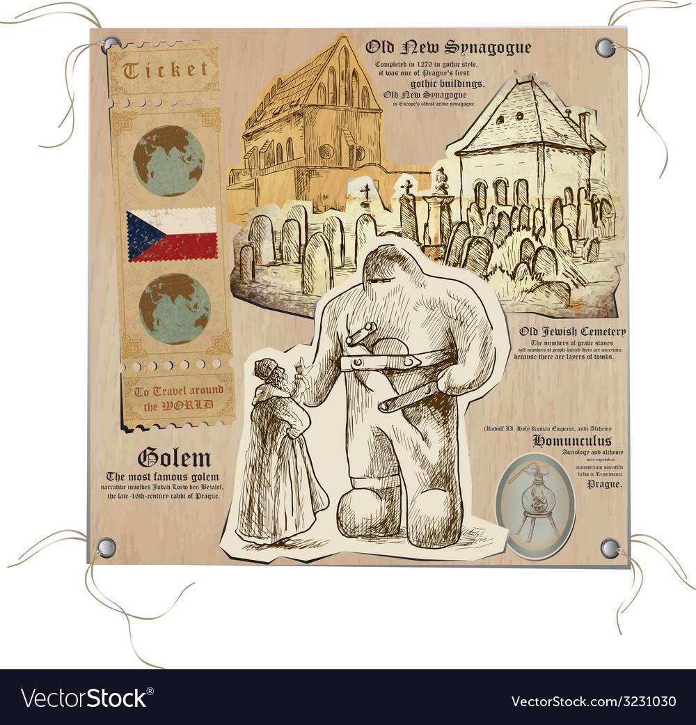Czech republic - pictures of life mystical prague vector | Price: 1 Credit (USD $1)