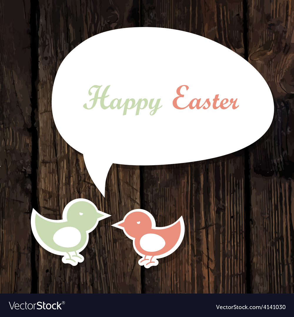 Easter greeting card wooden vector | Price: 1 Credit (USD $1)