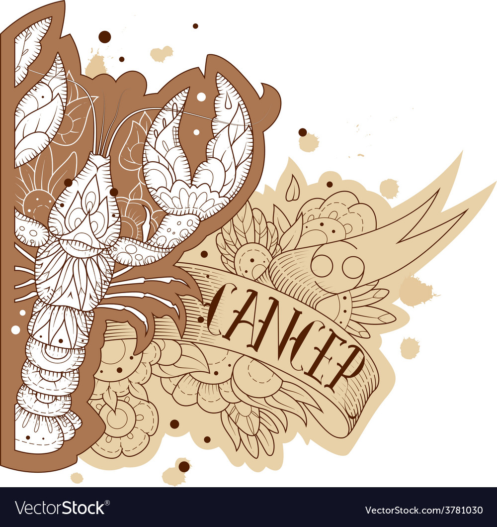 Engraving cancer vector | Price: 1 Credit (USD $1)