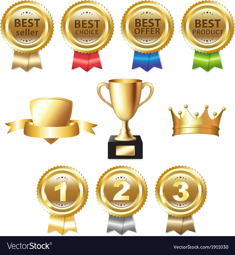 Golden awards vector | Price: 1 Credit (USD $1)