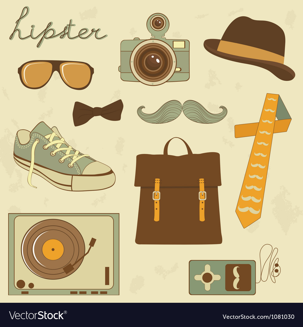 Hipster set vector | Price: 3 Credit (USD $3)