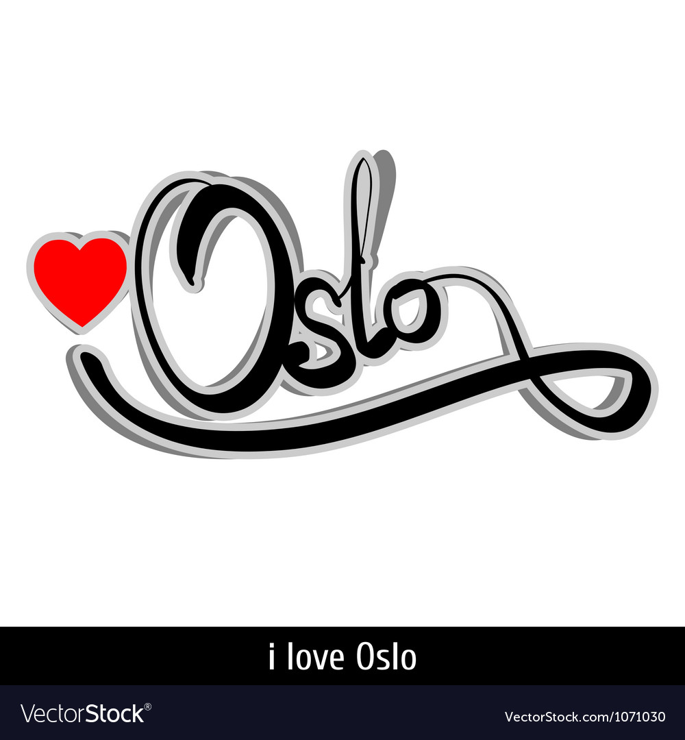 Oslo greetings hand lettering calligraphy vector | Price: 1 Credit (USD $1)