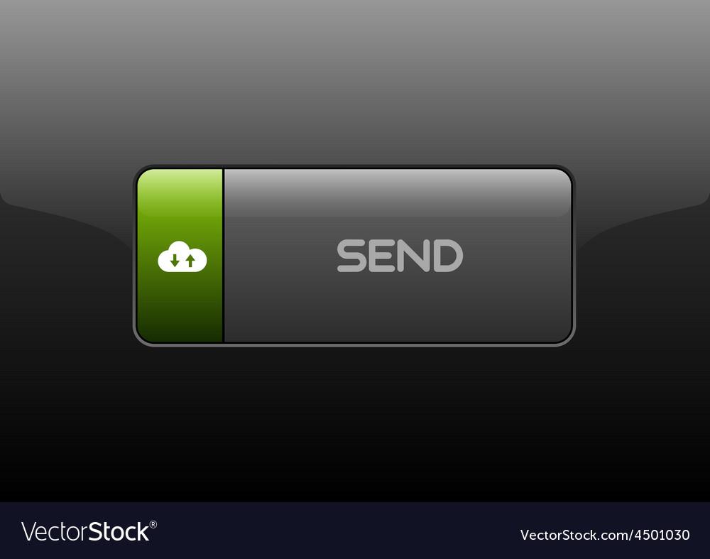 Send button vector | Price: 1 Credit (USD $1)