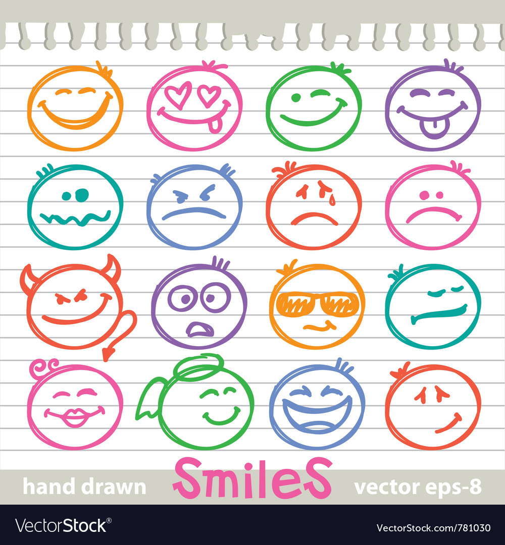 Set of smiles vector | Price: 1 Credit (USD $1)