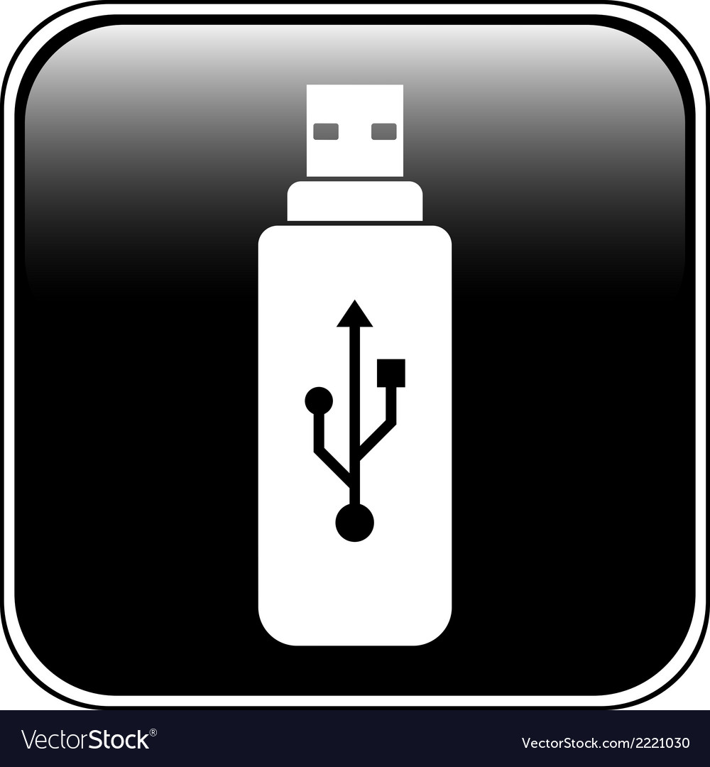 Usb flash button vector | Price: 1 Credit (USD $1)
