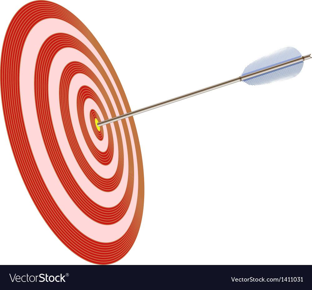 Arrow in to target vector | Price: 1 Credit (USD $1)