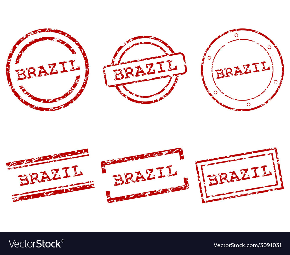 Brazil stamps vector | Price: 1 Credit (USD $1)