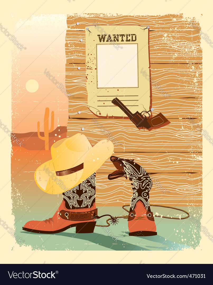 Cowboy poster vector | Price: 1 Credit (USD $1)