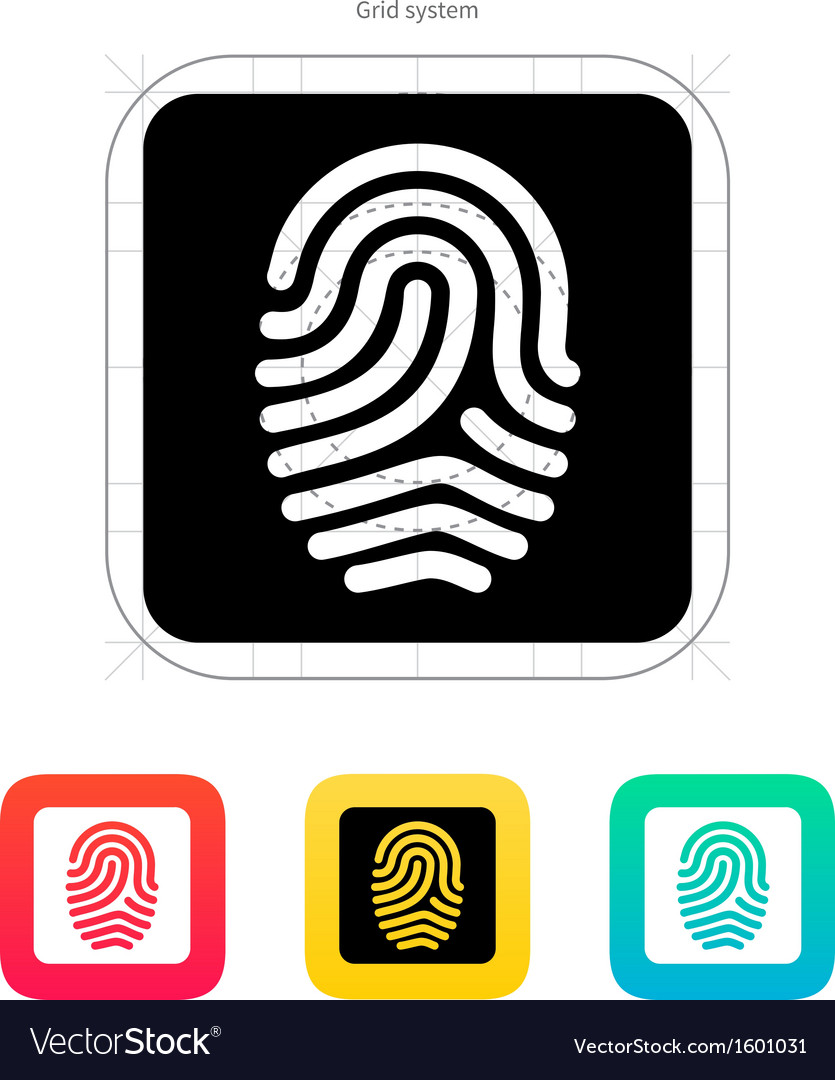 Fingerprint and thumbprint icon vector | Price: 1 Credit (USD $1)