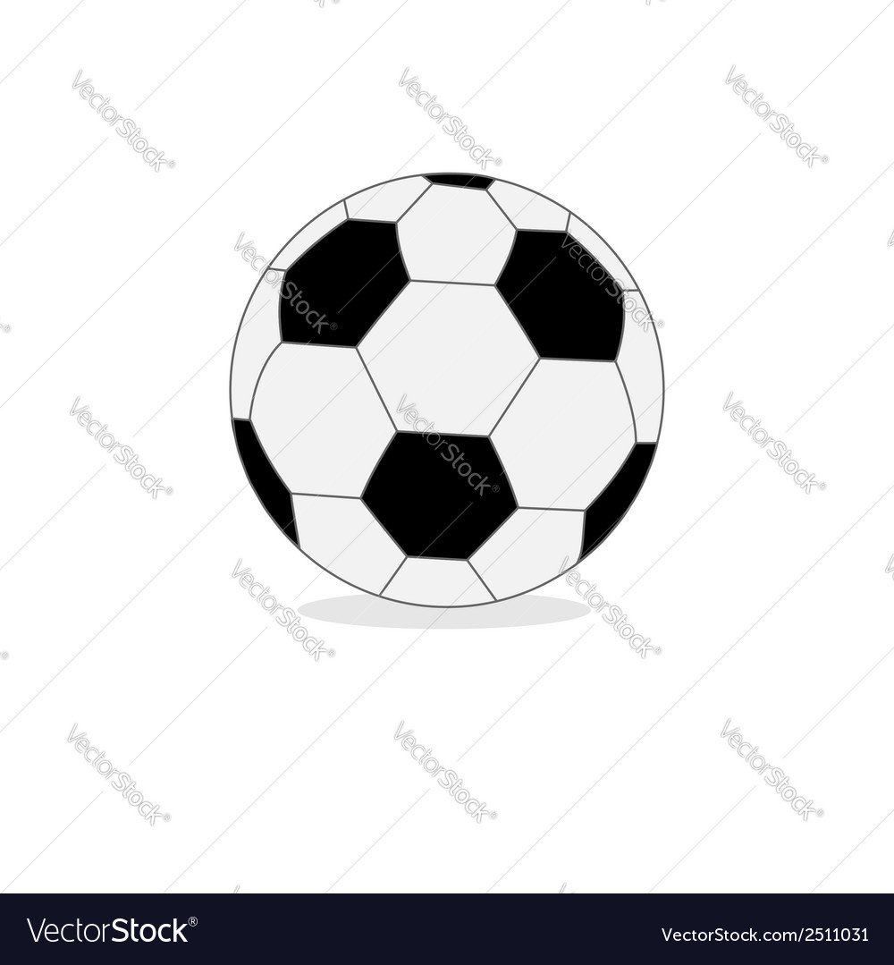 Football soccer ball isolated on white flat design vector | Price: 1 Credit (USD $1)