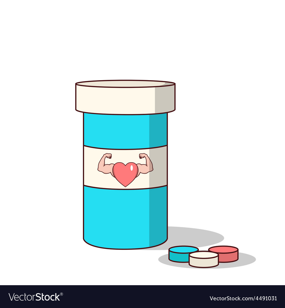 Isolated cartoon viagra drugs for making love stro vector | Price: 1 Credit (USD $1)