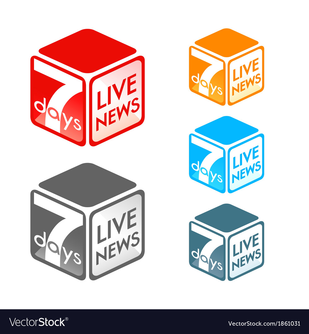 Live news symbol vector | Price: 1 Credit (USD $1)