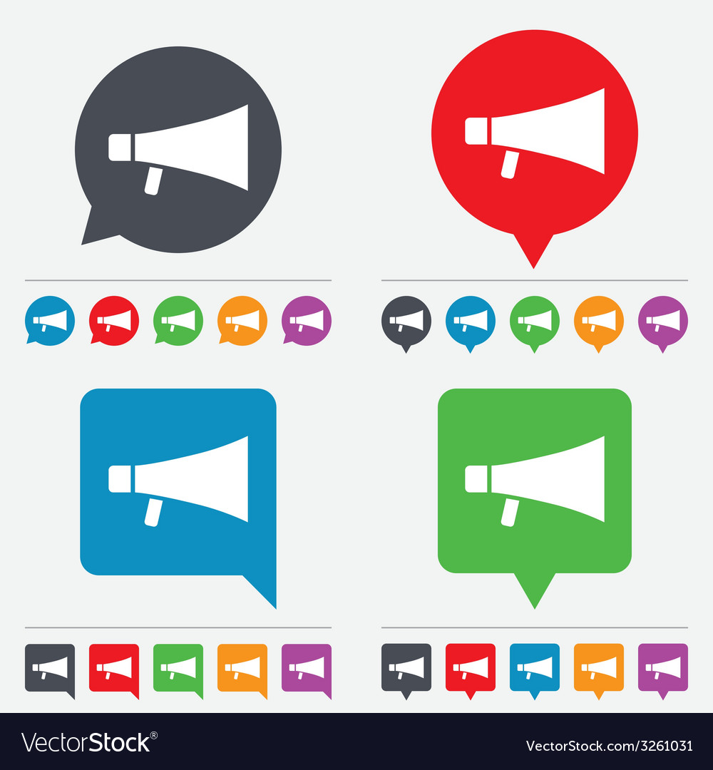 Megaphone sign icon loudspeaker symbol vector | Price: 1 Credit (USD $1)