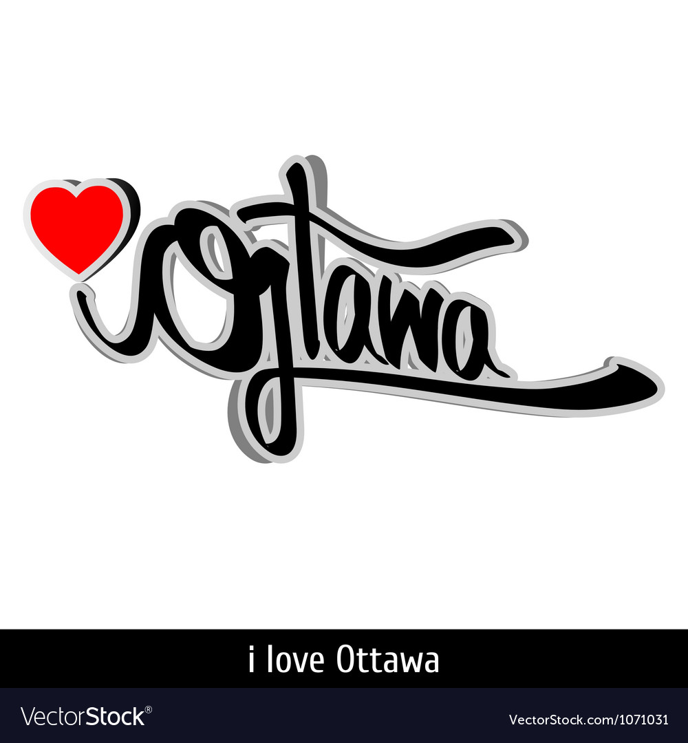 Ottawa greetings hand lettering calligraphy vector | Price: 1 Credit (USD $1)