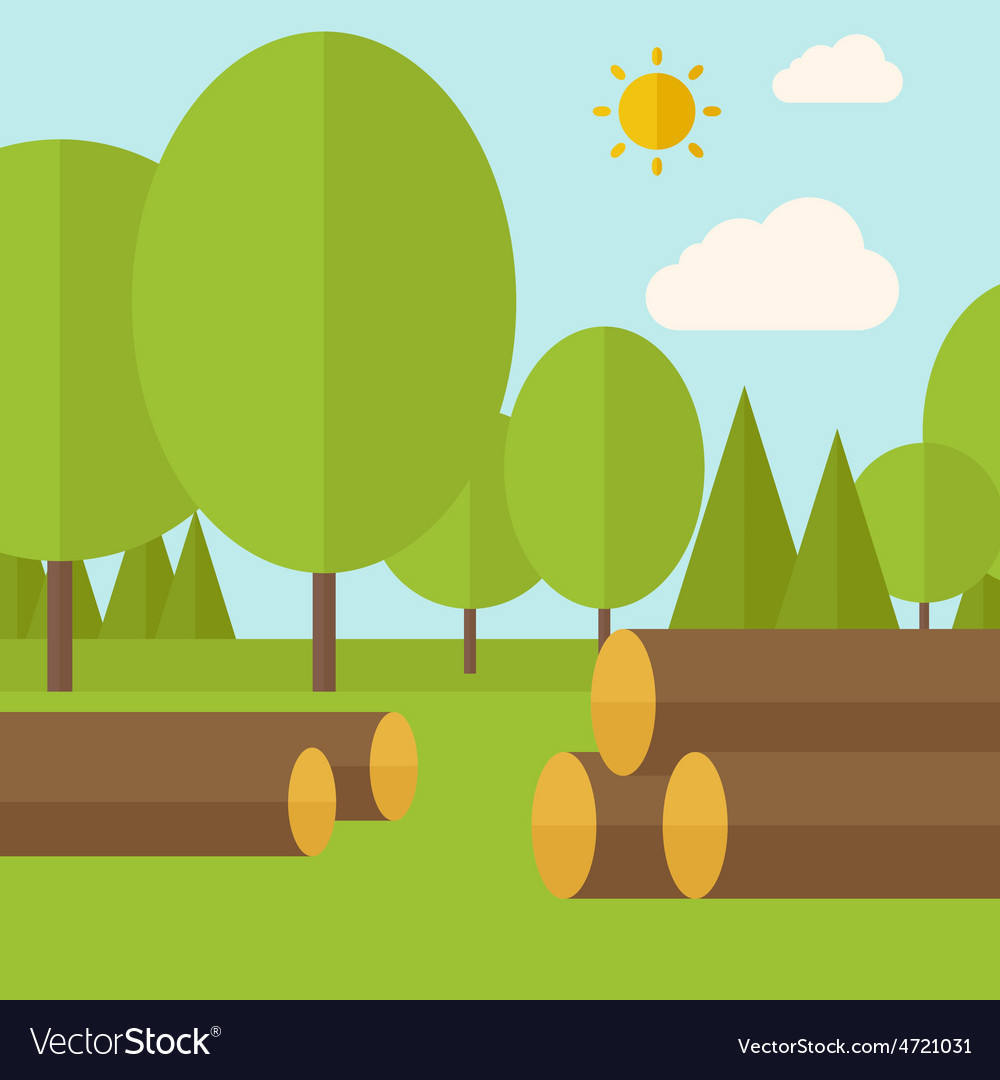 Pile of drywood vector | Price: 1 Credit (USD $1)