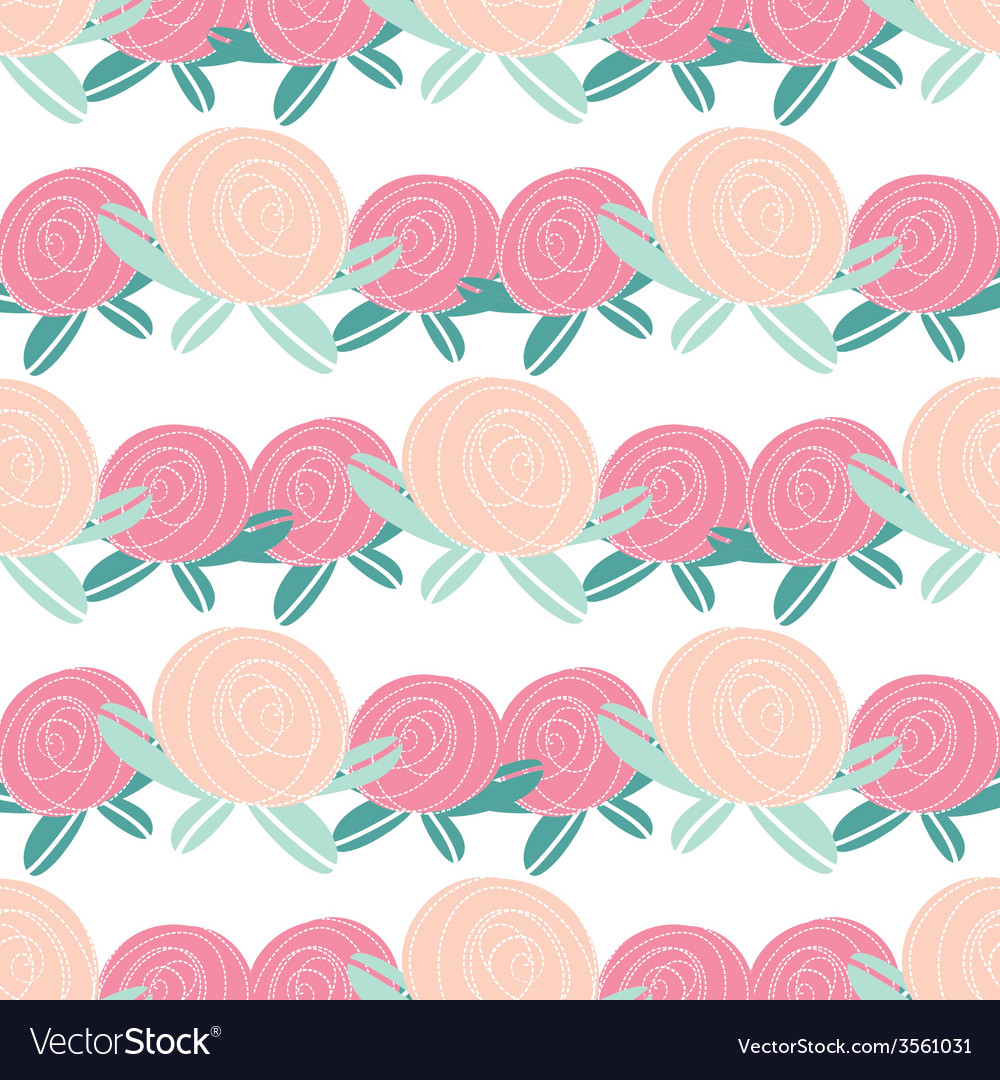 Seamless pattern with abstract rose flowers vector | Price: 1 Credit (USD $1)