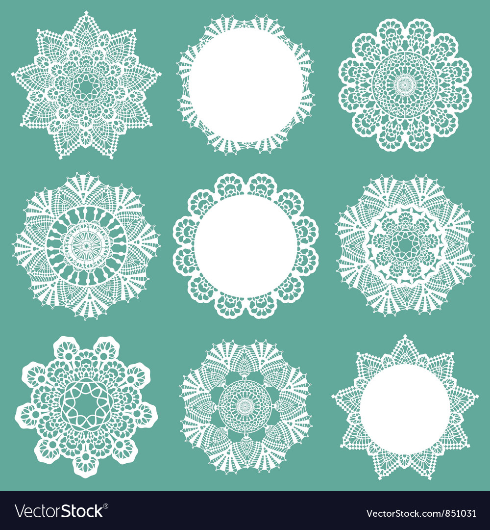 Set of lace napkins vector | Price: 1 Credit (USD $1)
