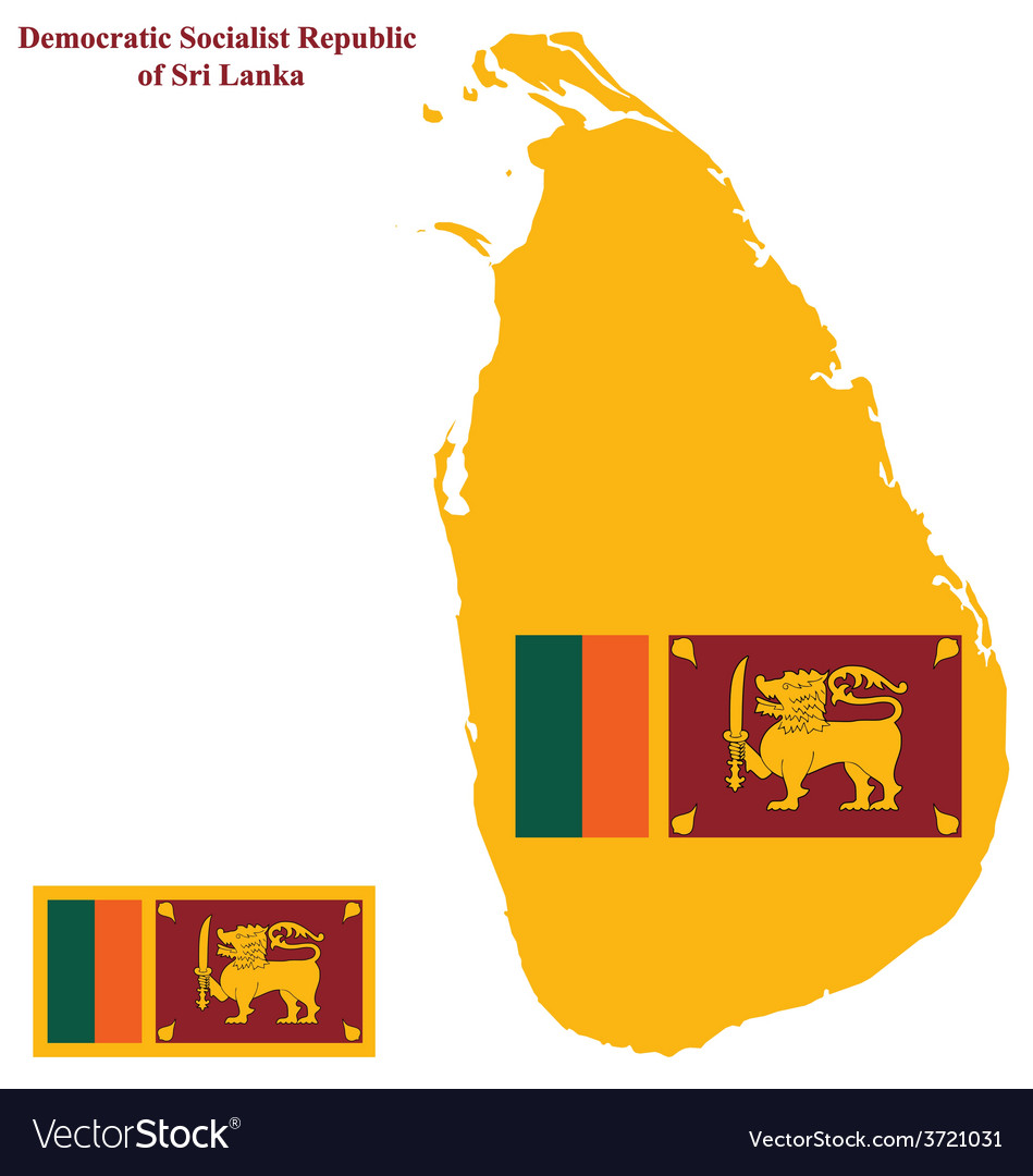 Sri lanka flag vector | Price: 1 Credit (USD $1)