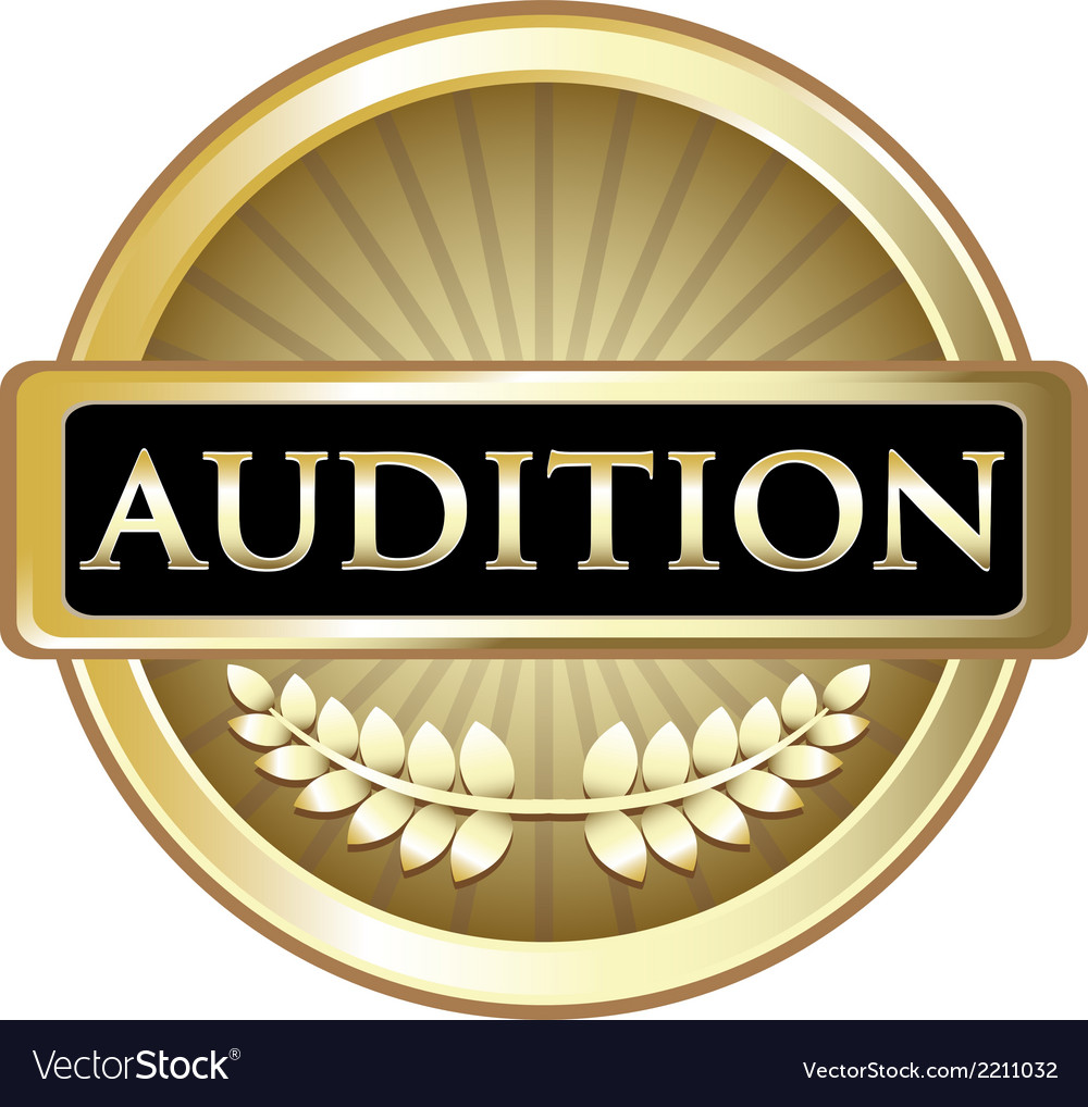 Audition gold label vector | Price: 1 Credit (USD $1)