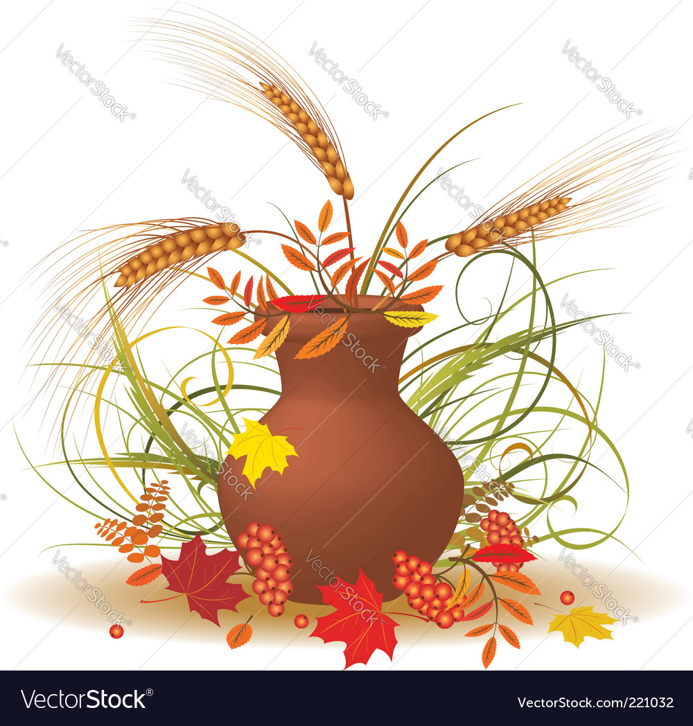 Autumnal bouquet vector | Price: 1 Credit (USD $1)