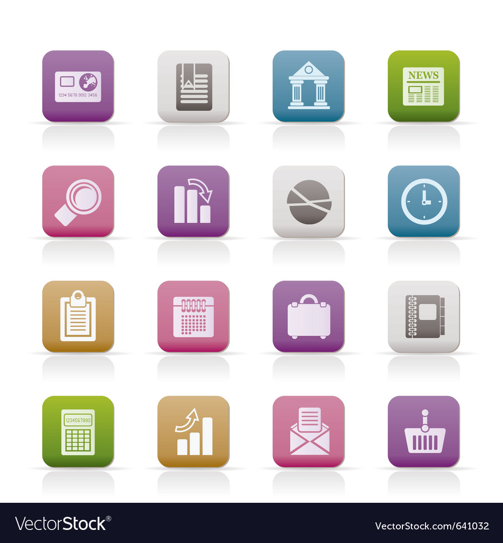 Business and office realistic internet icons - vec vector | Price: 1 Credit (USD $1)