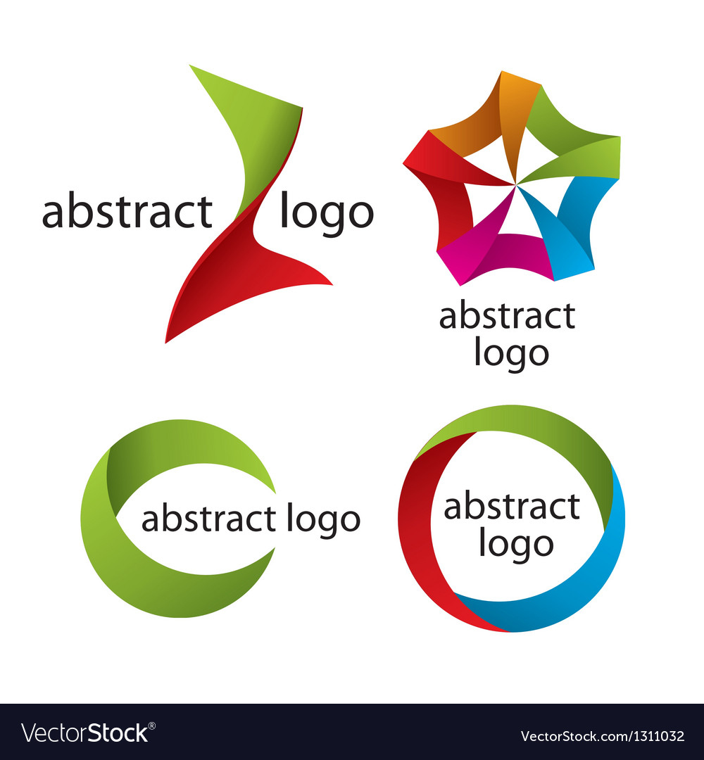 Collection of abstract multicolored logo of the ta vector | Price: 1 Credit (USD $1)