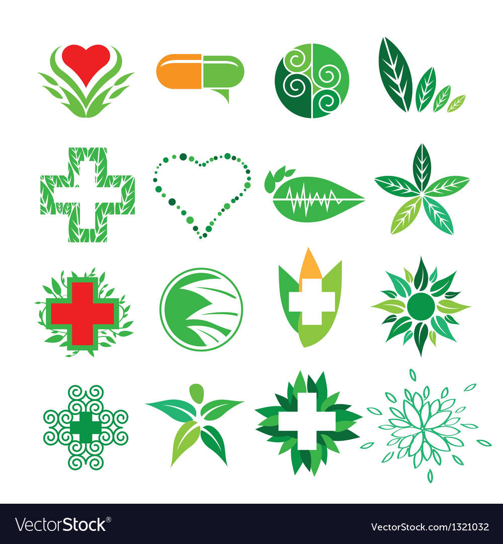 Collection of logos of medicine and pharmac vector | Price: 1 Credit (USD $1)
