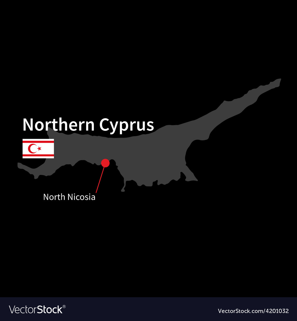 Detailed map of northern cyprus and capital city vector | Price: 1 Credit (USD $1)