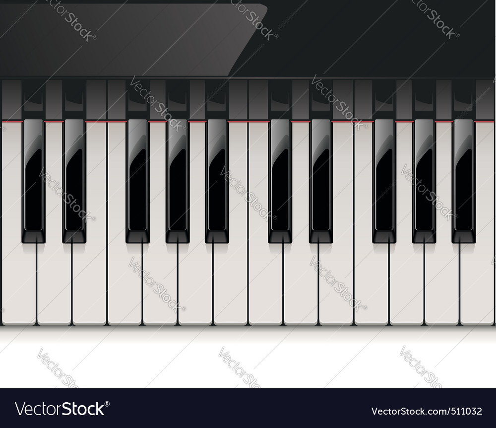detailed piano keyboard vector | Price: 3 Credit (USD $3)