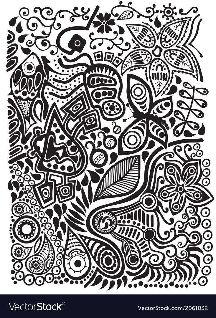 Doodle background vector | Price: 1 Credit (USD $1)