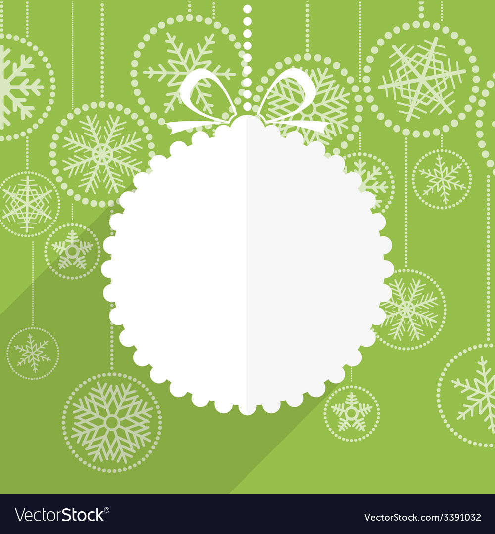 Green christmas greeting card vector | Price: 1 Credit (USD $1)