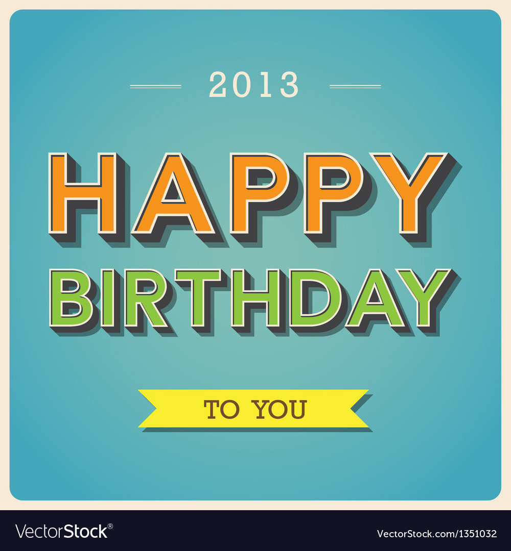 Happy birthday retro poster eps10 vector | Price: 1 Credit (USD $1)