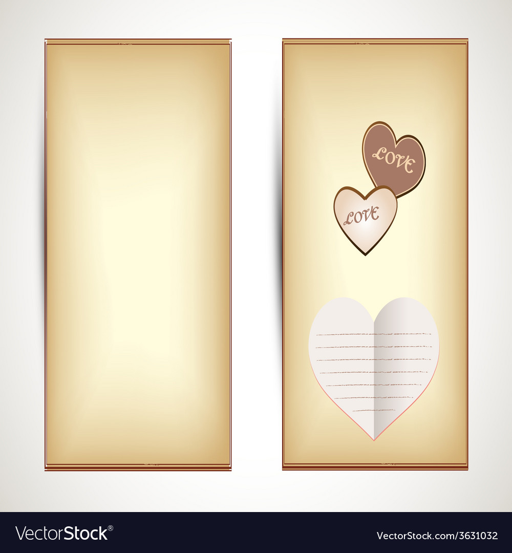 Horizontal flyers with hearts vector | Price: 1 Credit (USD $1)