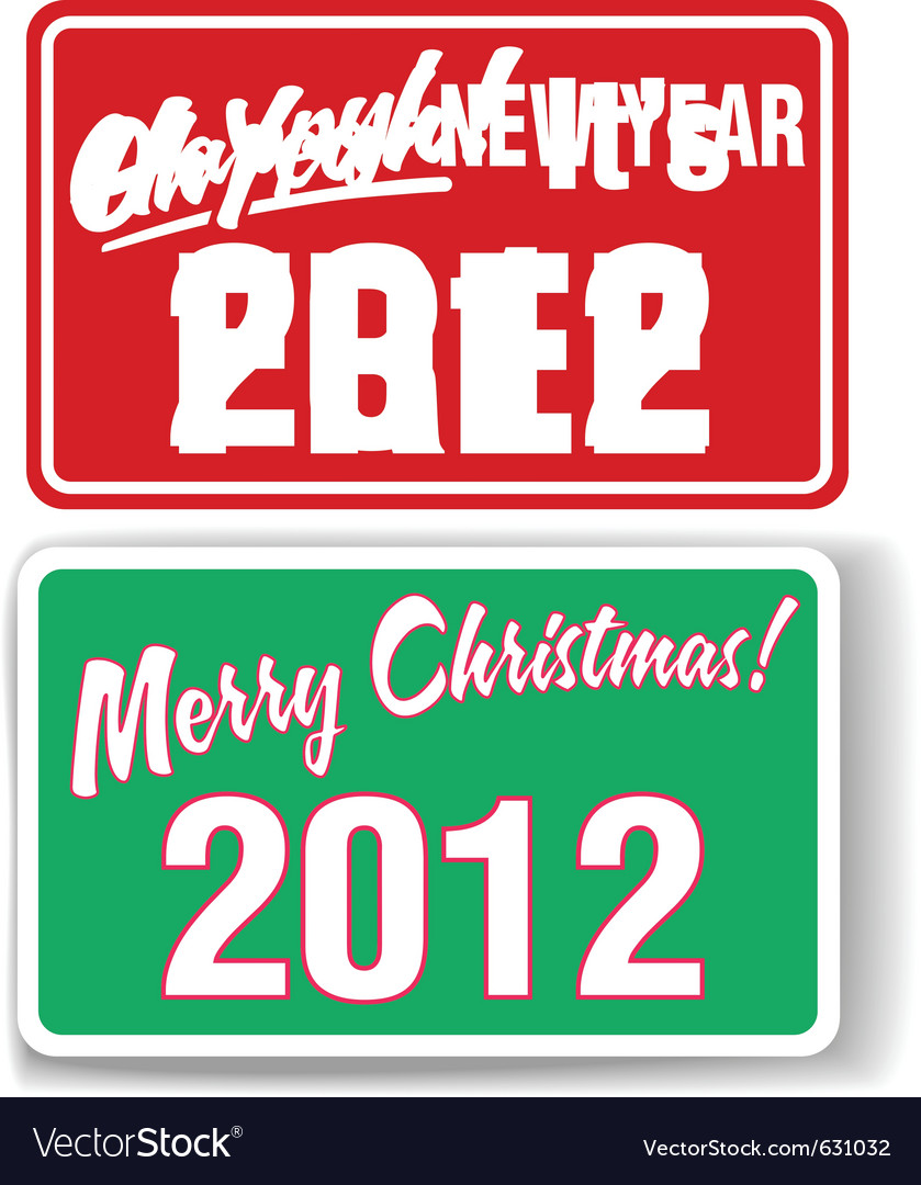 Merry christmas happy new year 2012 retail store w vector | Price: 1 Credit (USD $1)