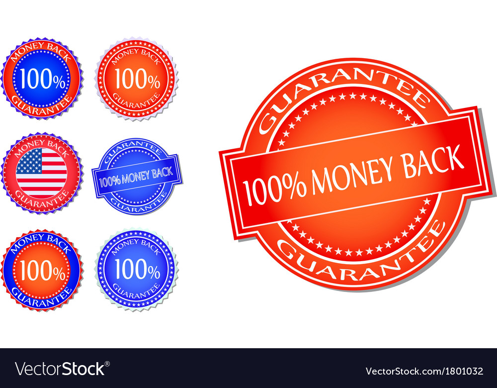 Money back guarantee seal set vector | Price: 1 Credit (USD $1)