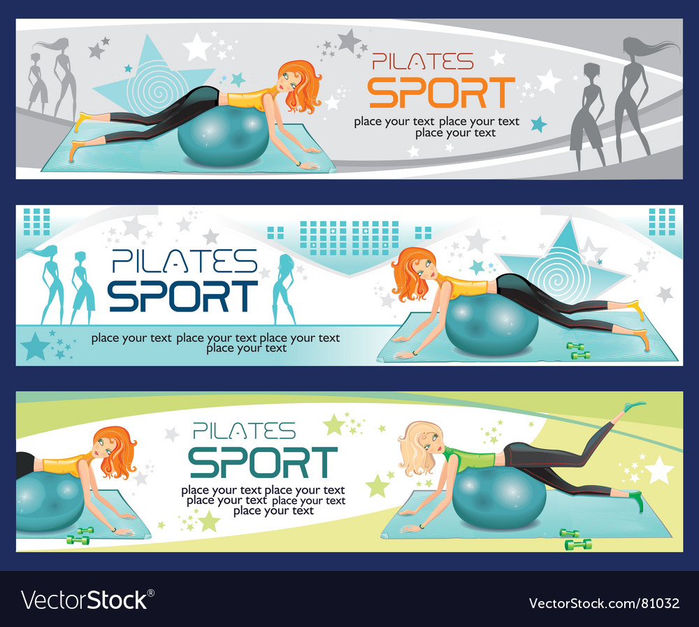 Sporty girl banners vector | Price: 3 Credit (USD $3)