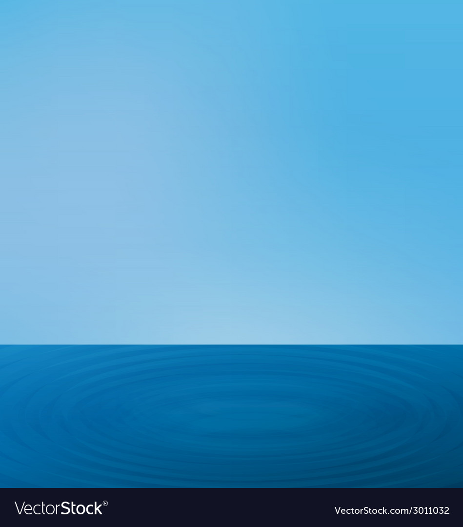 Wallpapers ripple sea landscape with the horizon vector | Price: 1 Credit (USD $1)