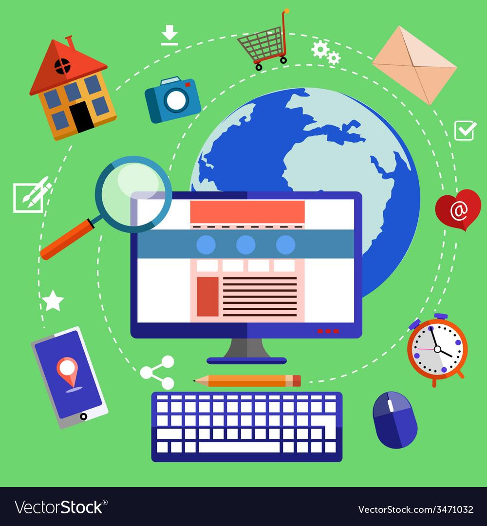 Web design and development concept vector | Price: 1 Credit (USD $1)