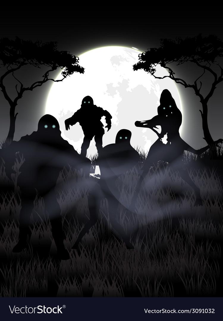 Zombie night vector | Price: 1 Credit (USD $1)